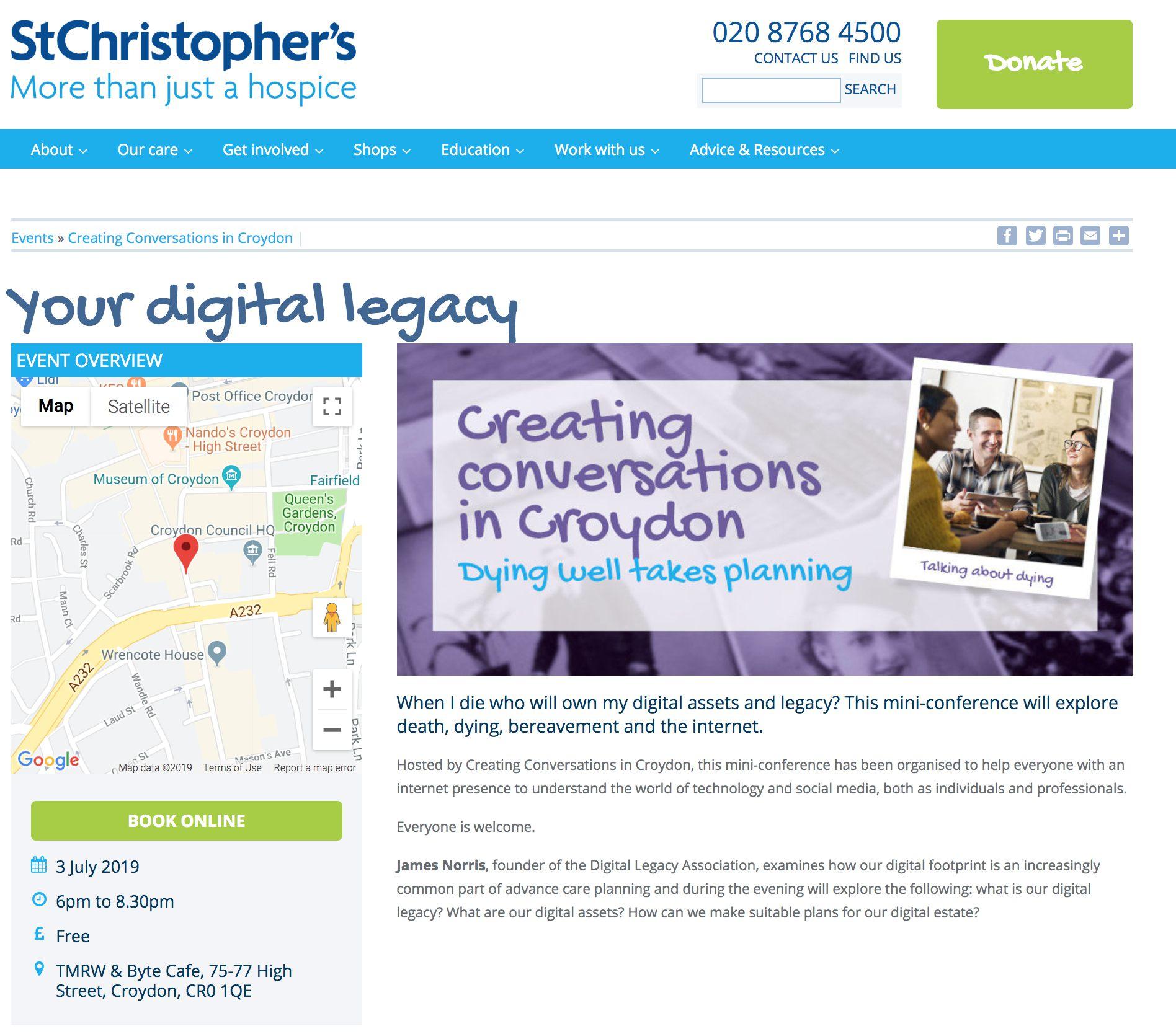Digital Legacy Hospices
